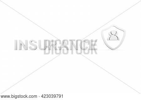 Insurance Concept White Background 3d Render Illustration