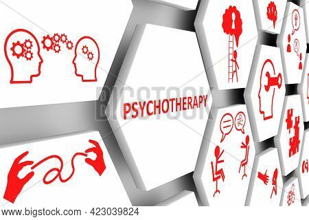 Psychotherapy Concept Cell Background 3d Render Illustration
