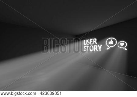 User Story Rays Volume Light Concept 3d Illustration