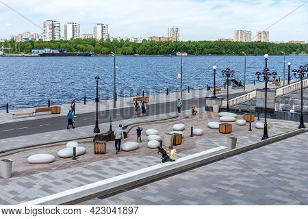 Moscow, Russia - May 23, 2021: The North River Terminal - Passenger Terminal Of River Transport In M