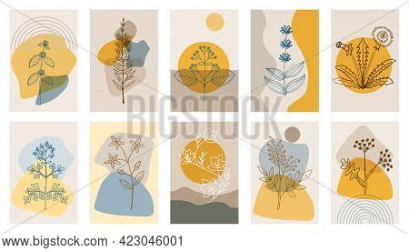Bitter Herbs P1, Abstract Poster, Set 1 Dd