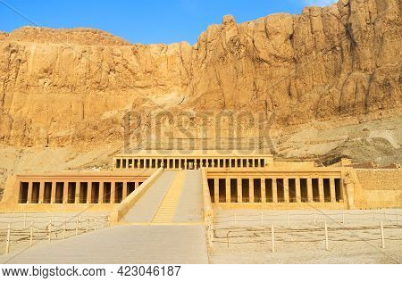 The Great Temple Of Hatshepsut Is One Of The Most Popular Landmarks Of Theban Necropolis, Luxor, Egy