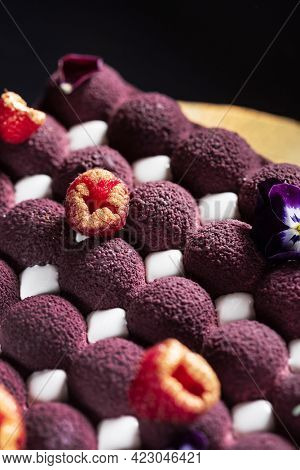 mousse cake with fresh berries