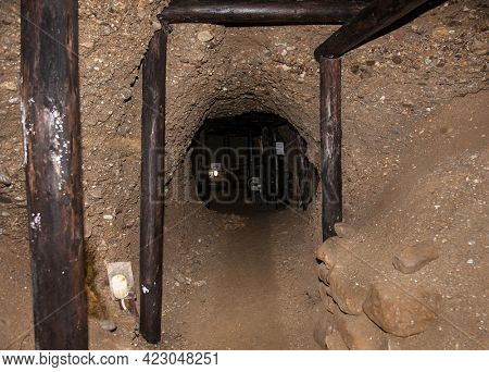 The mysterious Ravne tunnels in Bosnian Pyramid Valley , Visoko . Bosnia and Herzegovina.