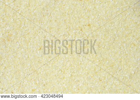 Detail Of A Surface Covered In Uncooked Semolina