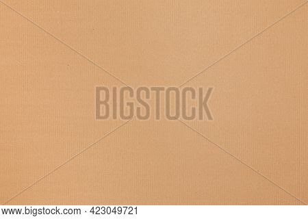 Flat New Corrugated Cardboard Texture And Background
