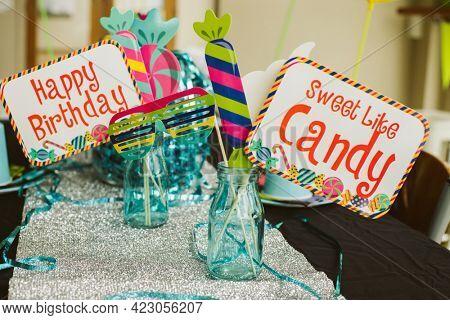 happy birthday setups, props, accessories