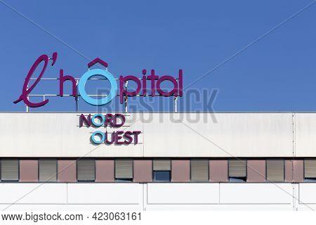 Villefranche Sur Saône, France - June 15, 2017: Hospital Nord Ouest Building In Villefranche Sur Saô