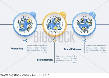 Brand Redesign Vector Infographic Template. Production Extension Presentation Outline Design Element