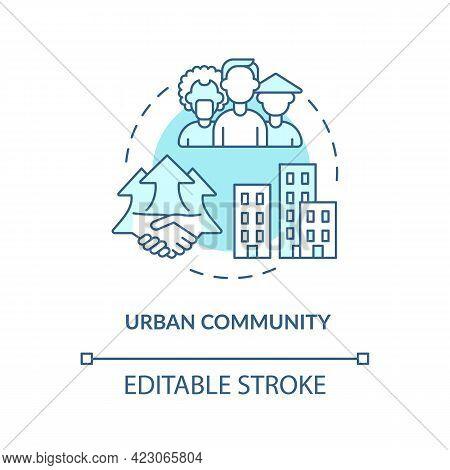 Urban Community Concept Icon. Communities Types Abstract Idea Thin Line Illustration. Urban Populati