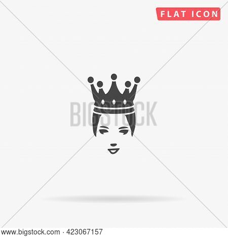 Princess Crown Flat Vector Icon. Hand Drawn Style Design Illustrations.