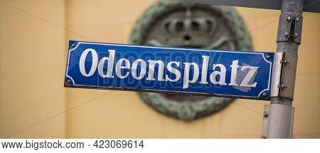 Odeon Square In Munich - Munich, Germany - June 03, 2021