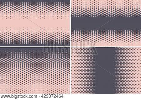 Hexagonal Pattern. Geometric Hexagon Halftone Abstract Background.