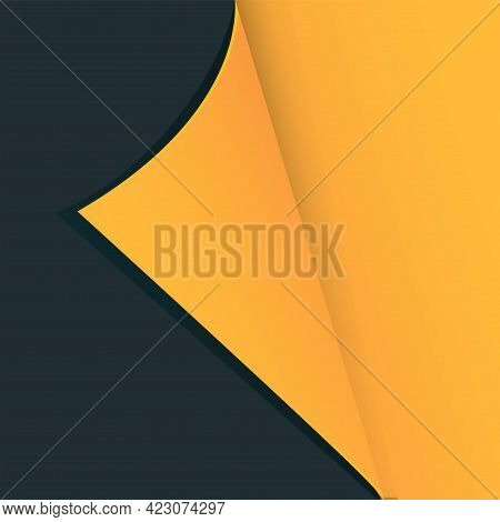 Curled Paper - Abstract Brightly Contrasting Background - Vector.