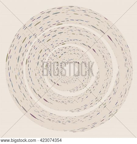 Abstract Light Background - Dots Twisted Into A Spiral - Vector.