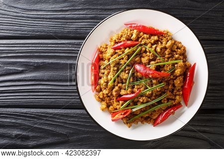 Khua Kling Also Known As Thai Dry Mince Curry Is A Traditional Dish From Southern Thailand Featuring