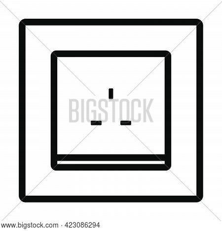 Great Britain Electrical Socket Icon. Editable Bold Outline Design. Vector Illustration.