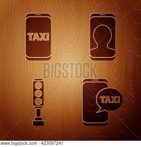 Set Taxi Call Telephone Service, Taxi Call Telephone Service, Traffic Light And Taxi Call Telephone
