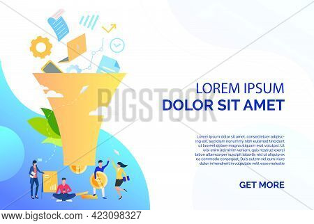 Sale Flat Icon. Text, Sample, Funnel. Business Concept. Can Be Used For Topics Like Ecommerce, Onlin