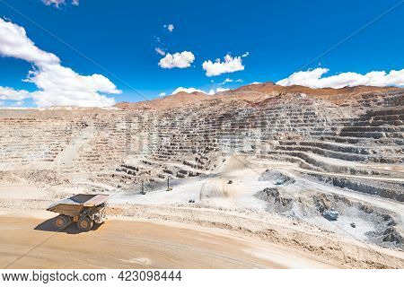 View From Above Of An Open-pit Copper Mine In Chile