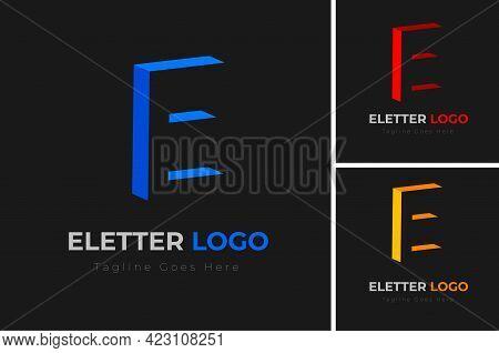 3d Letter E Logo Design. Letter E Logo Template Design. Creative Letter E Logo Design Vector Templat