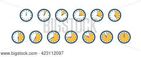 Set Of Clocks, Timers. Minutes Left. Seconds Left.