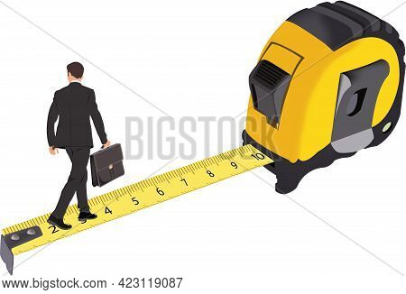 Roll-up Meter For Measuring With People Balanced Above