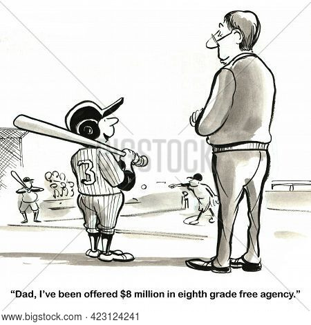 Fourteen Year Old Boy Is Baseball Free Agent.