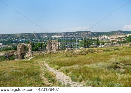 Remains Of Kalamita Fortress, Inkerman, Crimea. Fortification Was Founded In Vi Ad By Byzantines On