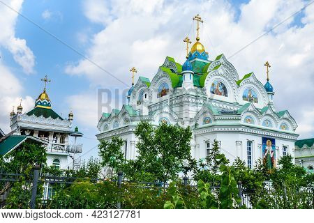 Orthodox Church Of St. Catherine In Feodosia, Crimea. Though It Was Built In 1892, It Has Traditiona