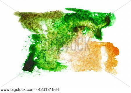 Watercolour Background. Abstract Watercolor Paint Pattern Isolated On Water Color Paper Texture. Spl