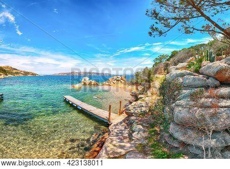 Captivating View Of  Beach On Porto Rafael Resort. Picturesque Seascape Of Mediterranean Sea. Locati