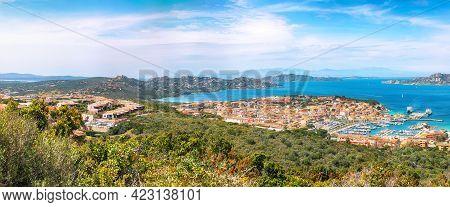 Breathtaking View On Palau Port And La Maddalena Island. Location: Palau, Province Of Olbia-tempio,