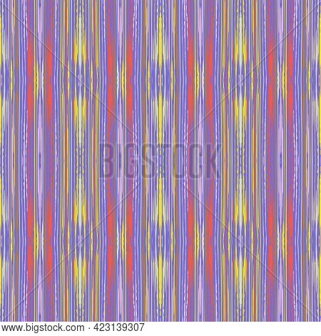 Blue And Purple  Seamless Pattern With Grungy Grid. Abstract Colorful Background. Modern  Vector Ill