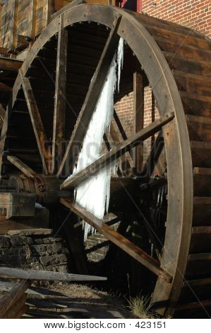 Grist Mill With Ice