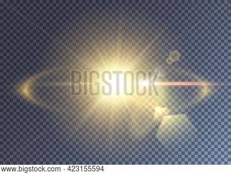 Vector Sun Or Star Explosion Realistic Effect