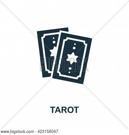 Tarot Icon. Monochrome Simple Element From Fortune Teller Collection. Creative Tarot Icon For Web De
