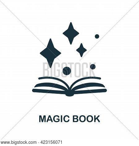 Magic Book Icon. Monochrome Simple Element From Fortune Teller Collection. Creative Magic Book Icon
