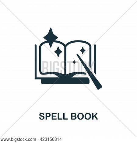 Spell Book Icon. Monochrome Simple Element From Fortune Teller Collection. Creative Spell Book Icon