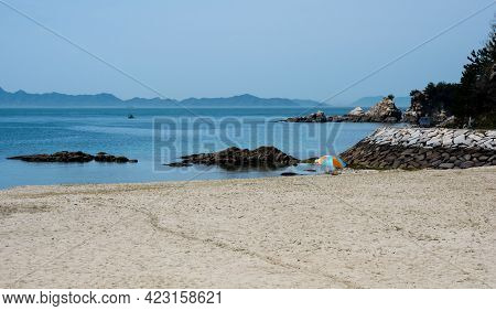 Beautiful Beach At Roadside Station Kazahaya-no-sato Fuwari - Matsuyama, Ehime Prefecture, Japan