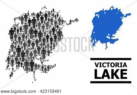 Map Of Victoria Lake For Politics Promotion. Vector Nation Abstraction. Concept Map Of Victoria Lake