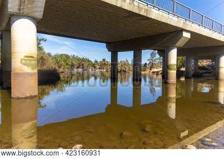 Photograph Of The Nepean River And Bridge After Severe Flooding In Yarramundi Reserve In The Hawkesb