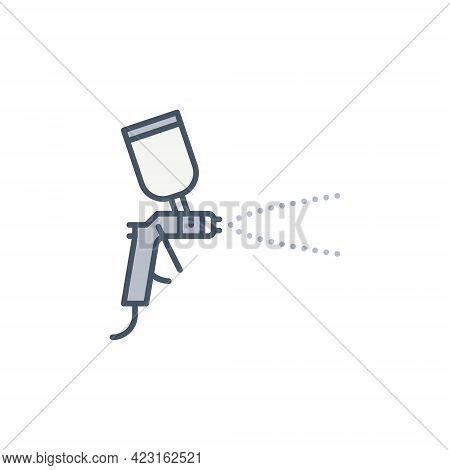 Vector Air Spray Paint Gun Concept Colored Icon