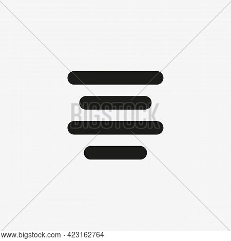 Center Alignment Vector Icon. Document Editor Button Sign For Web Site And Mobile App.