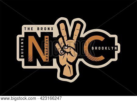 New York T-shirt Printing Design. Nyc Emblem. Vector Illustration.