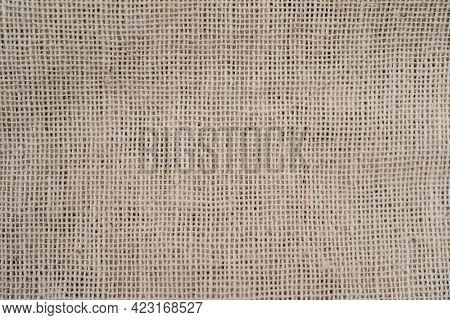 Light Beige Burlap Cloth Background Or Sack Cloth For Packing A Close Up Shot Of A Hessian Bag Burla