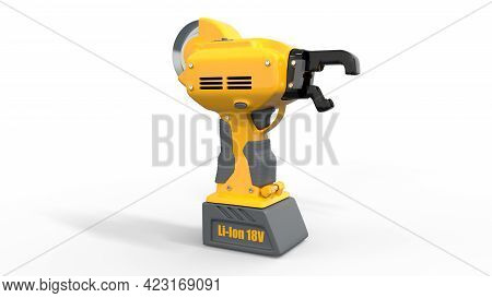 Electrical Iron Rod Wire Tier Tool - Isolated Industrial 3d Illustration