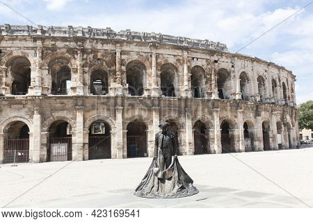 Nimes, France - May 30, 2017: Arena Of Nîmes In France