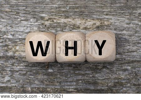 A Question Why On A Wooden Cubes. Faq Frequency Asked Questions. Answer And Brainstorming Concepts