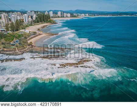 An Aerial View Of Gold Coast Beaches From Snapper Rocks To Currumbin